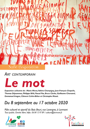 Exposition collective Le Mot, visuel Emmanuel Aragon - Centre d'art de Lormont, 2020