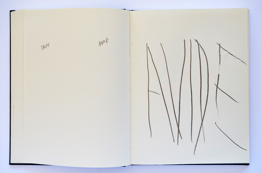 Carnet (livre d'artiste, détail), 2012/ in progress, Emmanuel ARAGON